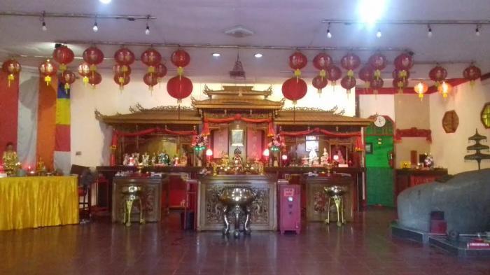 Vihara Mahabrahma atau Pan Kho Byo berada di Kampung Pulo Geulis, Kelurahan Babakan Pasar, Kecamatan Bogor Tengah, Kota Bogor. Foto diambil pada Jumat (5/2/2016).
